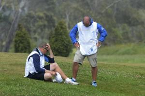 Caddies react to the sudden death of a fellow caddy who died on the fairway during a tournament.